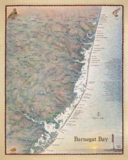Barnegat Bay and the Central Jersey Coast Maps / Geography Jigsaw Puzzle