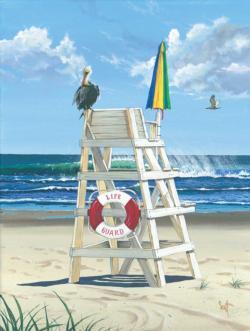 Pelican's Perch Beach Jigsaw Puzzle