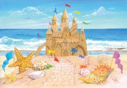 Seaside Palace Beach Jigsaw Puzzle