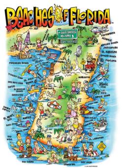 Beaches of Florida Maps / Geography Jigsaw Puzzle
