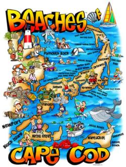 Beaches of Cape Cod Maps / Geography Jigsaw Puzzle