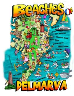 Beaches of Delmarva Maps / Geography Jigsaw Puzzle