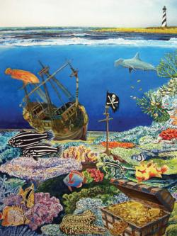 Treasures of the Deep Beach Jigsaw Puzzle