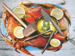 Blue Crab Feast Beach Jigsaw Puzzle