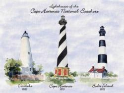 Lighthouses of Cape Hatteras National Seashore Lighthouses Jigsaw Puzzle