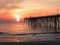 Sunrise Pier Beach Jigsaw Puzzle