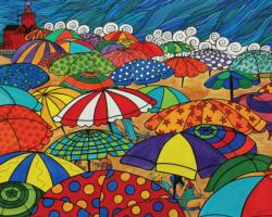 Shades of Summer Beach Jigsaw Puzzle