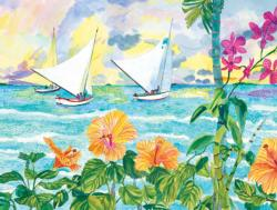 Sailing in Paradise Beach Jigsaw Puzzle