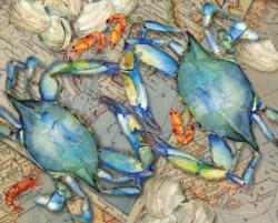 Blue Crab Bounty Beach Jigsaw Puzzle