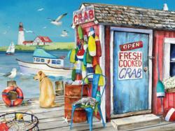 Crab Shack Seascape / Coastal Living Jigsaw Puzzle