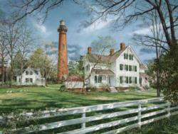 Currituck Beach Lighthouse House Lighthouses Jigsaw Puzzle