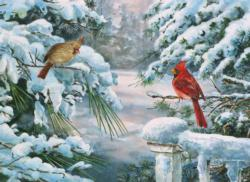 Winter Companions Winter Jigsaw Puzzle