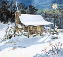 Time Stands Still Cottage / Cabin Jigsaw Puzzle
