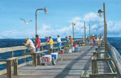 Fishing Pier Beach Jigsaw Puzzle