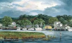 Southport Harbor Summer Jigsaw Puzzle