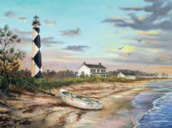 Sunset at Cape Lookout Lighthouses Jigsaw Puzzle