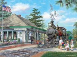 Southern Pines Station Trains Jigsaw Puzzle