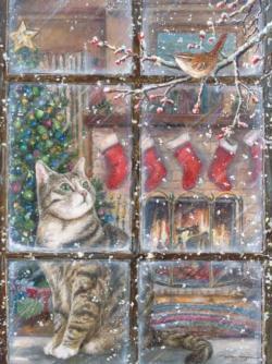 Peek-A-Boo Christmas Jigsaw Puzzle
