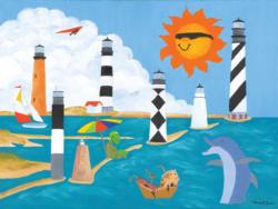 Summer Vacation Dolphins Children's Puzzles
