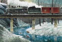 River Crossing Trains Jigsaw Puzzle