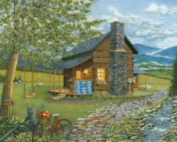 A Smoky Mountain Summer Cottage / Cabin Jigsaw Puzzle