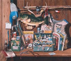 Bass Corner Fishing Jigsaw Puzzle