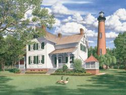 Currituck Afternoon - Scratch and Dent Lighthouses Jigsaw Puzzle