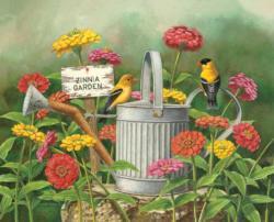 Zinnia Garden Garden Jigsaw Puzzle