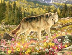 Lone Wolf Wolves Jigsaw Puzzle