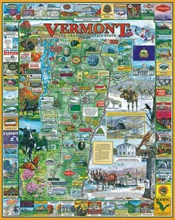 New Vermont - Scratch and Dent United States Jigsaw Puzzle
