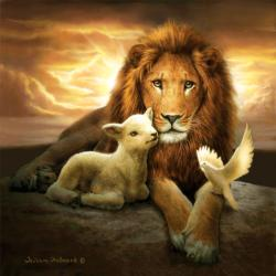 Trinity of Peace - Scratch and Dent Lions Jigsaw Puzzle