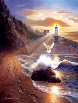 Footprints Lighthouses Jigsaw Puzzle