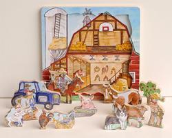 Flipzles Farm Puzzle Farm Animals Wooden Jigsaw Puzzle