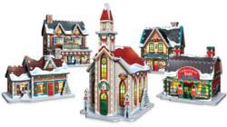 Christmas Village 3D Wrebbit Puzzle Christmas Large Piece