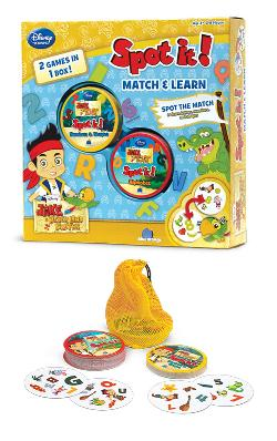 Spot It! 2-in-1 Jake and the Never Land Pirates Family Games
