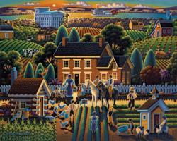 Hyrum Smith Farmhouse Americana & Folk Art Jigsaw Puzzle