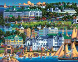 Mackinac Island Seascape / Coastal Living Jigsaw Puzzle