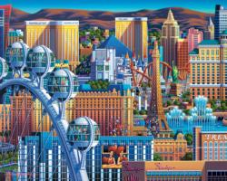 Las Vegas Great Wheel Las Vegas Jigsaw Puzzle