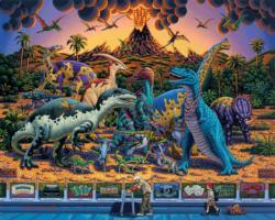 Dinosaur Museum Folk Art Jigsaw Puzzle