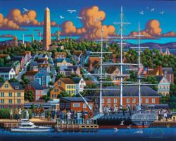 Boston National Historic Park Seascape / Coastal Living Jigsaw Puzzle