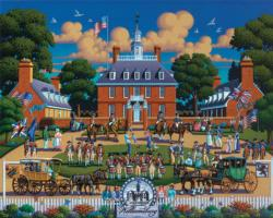 Williamsburg National Park Patriotic Jigsaw Puzzle