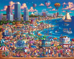 Miami Beach Americana & Folk Art Jigsaw Puzzle