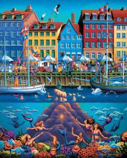 Copenhagen Seascape / Coastal Living Jigsaw Puzzle