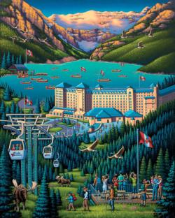 Lake Louise Folk Art Jigsaw Puzzle