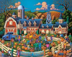 Harvest Festival Americana & Folk Art Jigsaw Puzzle