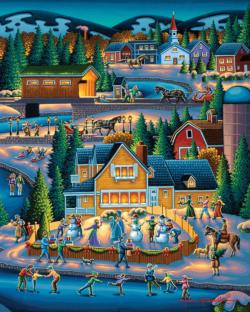 Through the Woods Americana & Folk Art Jigsaw Puzzle