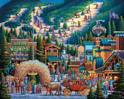 Jackson Hole Americana & Folk Art Jigsaw Puzzle