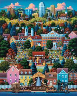 Winston Salem Americana & Folk Art Jigsaw Puzzle