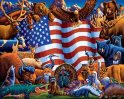 Animals of America Americana & Folk Art Jigsaw Puzzle