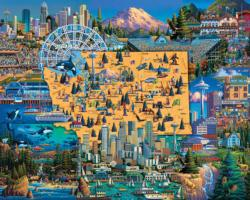Best of Seattle Americana & Folk Art Jigsaw Puzzle
